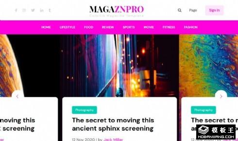 在线新闻杂志动态响应式网页模板