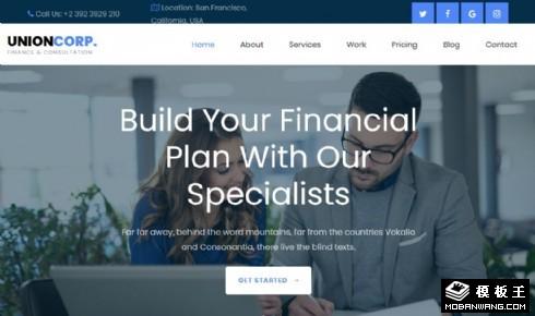 财务咨询方案响应式网页模板